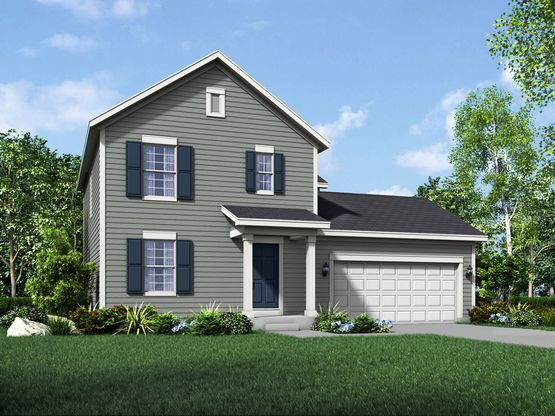 fairfax colonial exterior elevation rendering by william ryan homes:Fairfax - Colonial