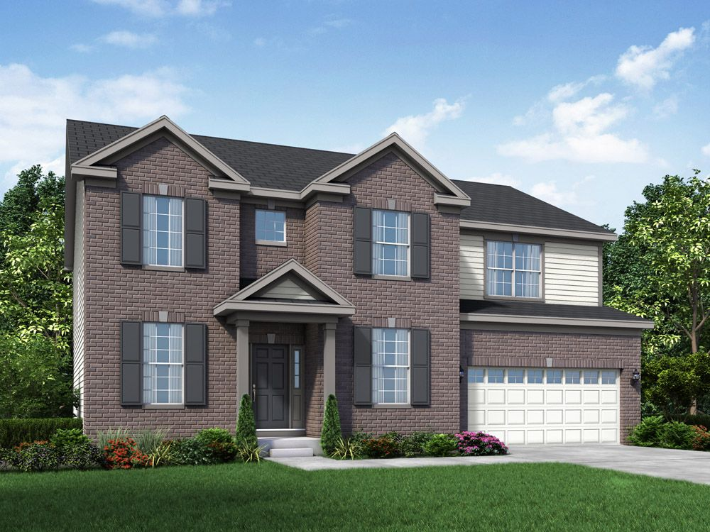 Williamsburg exterior elevation rendering Jericho II Stonebridge in Hawthorn Woods IL by William ...:Jericho II - Stonebridge - Williamsburg