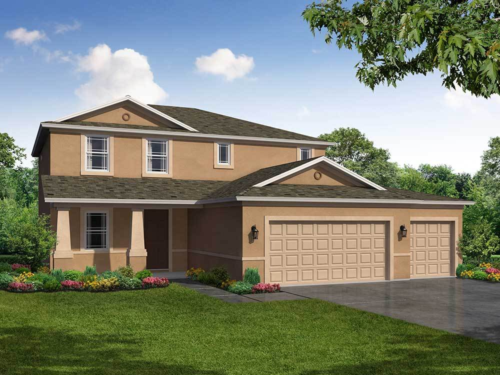 Exterior featured in the Saratoga 3-Car Garage By William Ryan Homes in Tampa-St. Petersburg, FL