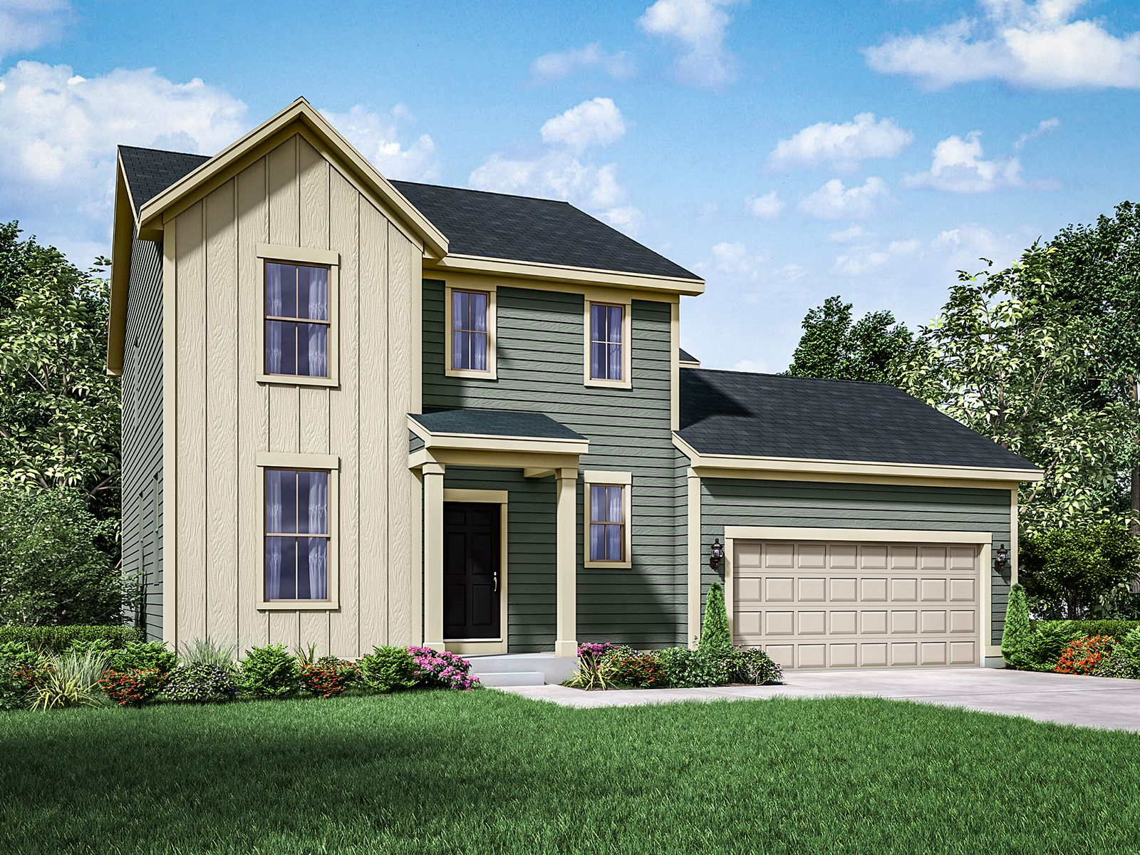 Exterior featured in the Fordham II By William Ryan Homes in Milwaukee-Waukesha, WI