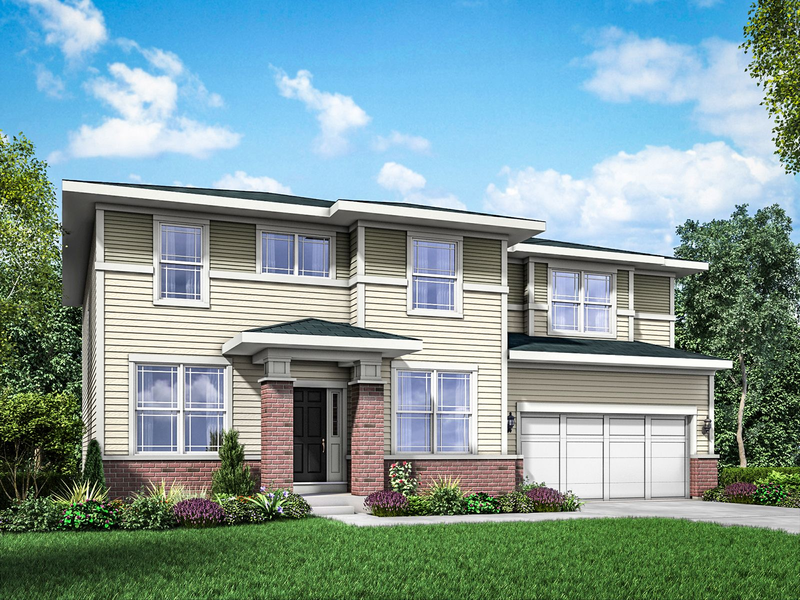Exterior featured in the Jericho II By William Ryan Homes in Chicago, IL