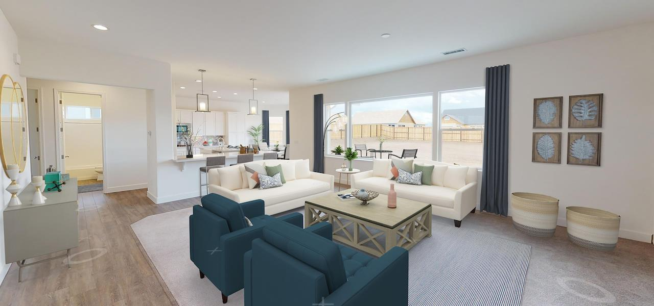 Living Area featured in the Plan 2 By Ryder Homes in Reno, NV