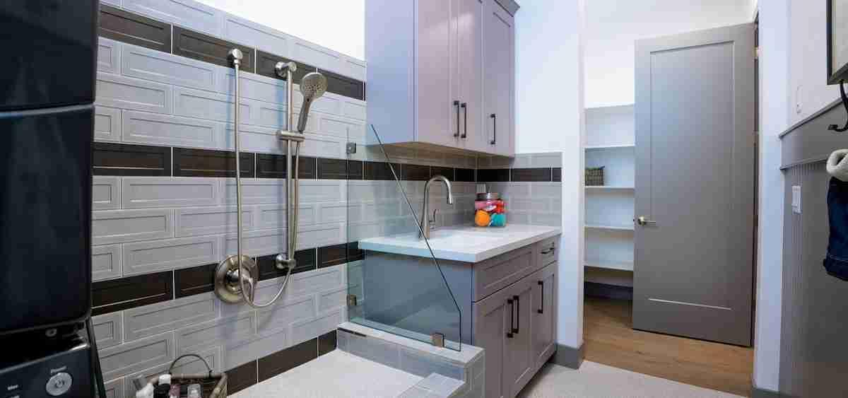 Pantry-Laundry Combo with Pet Washing Station