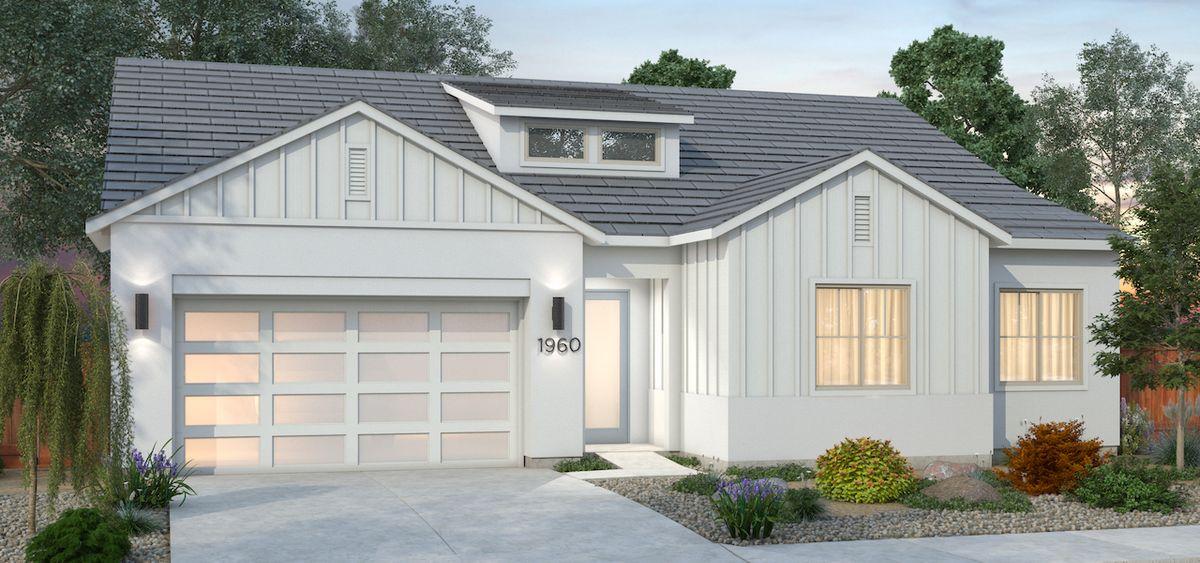 Plan 1 - Farmhouse Elevation