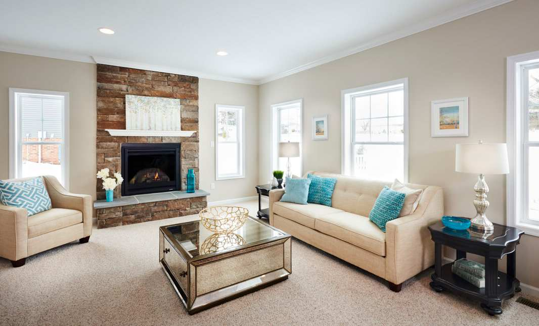 Living Area featured in the Dartmouth  By S & A Homes in State College, PA