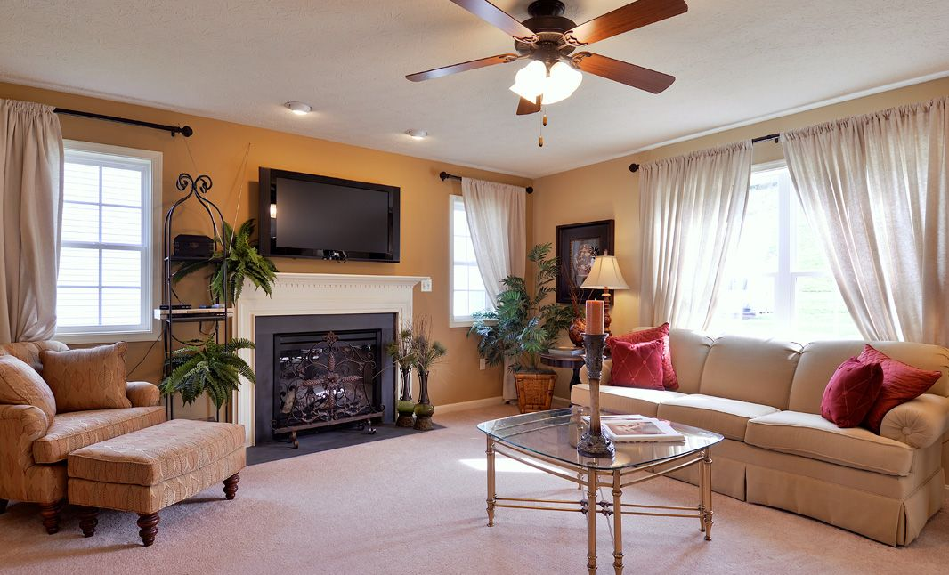 Living Area featured in the Hawthorne By S & A Homes in State College, PA