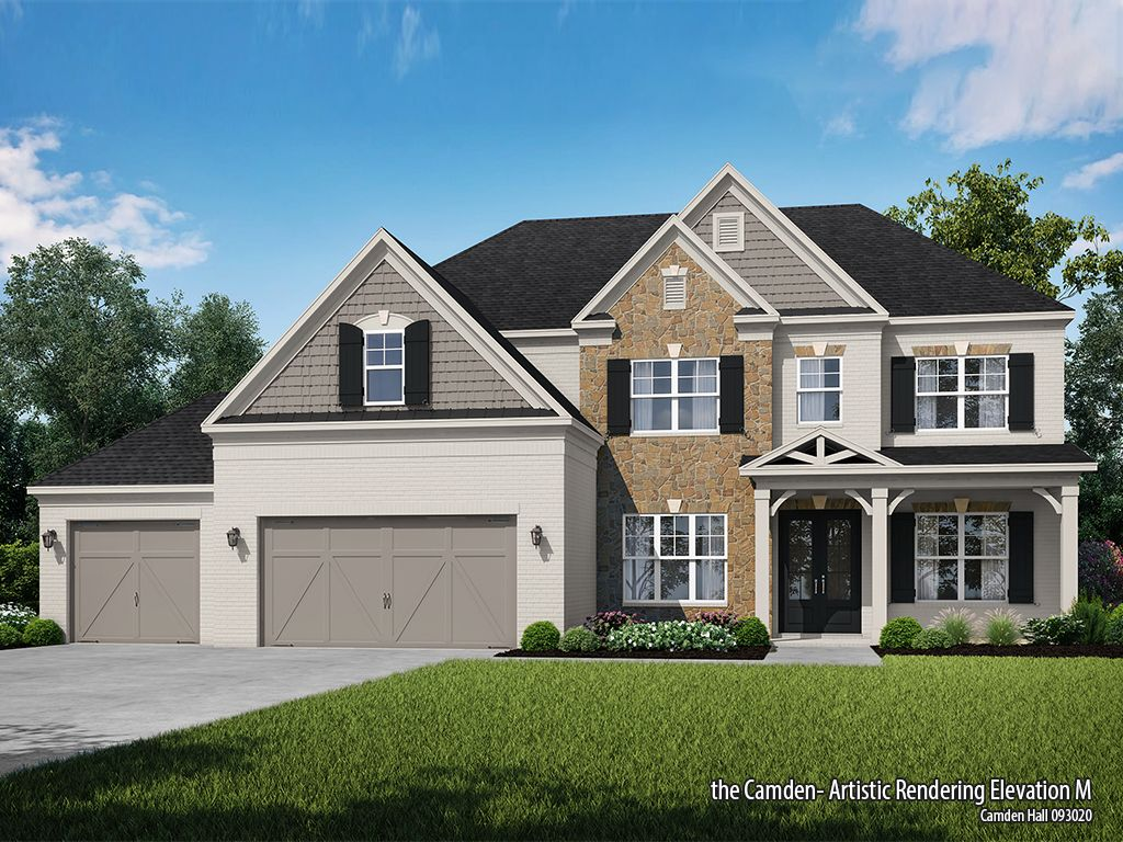 Exterior featured in the Camden at Camden Hall By SR Homes in Atlanta, GA