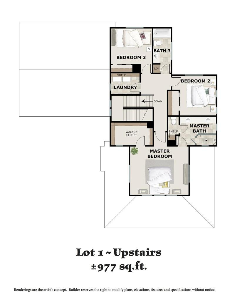 Lot 1 Upstairs Floor Plan