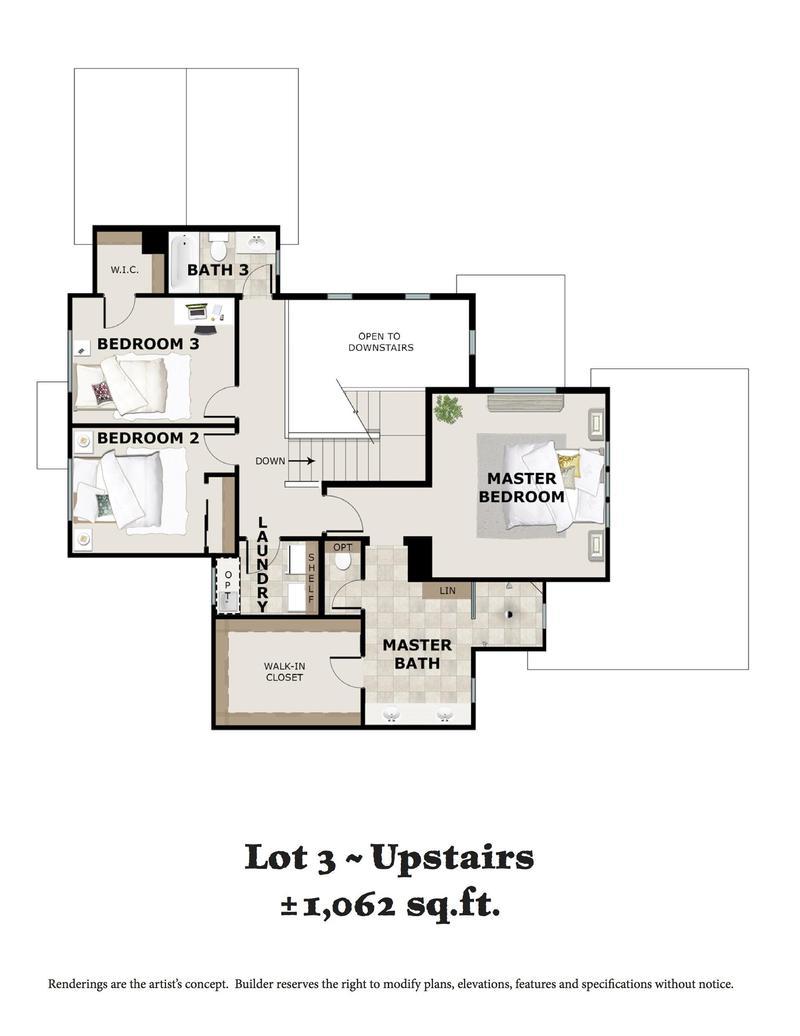 Lot 3 Upstairs Floor Plan