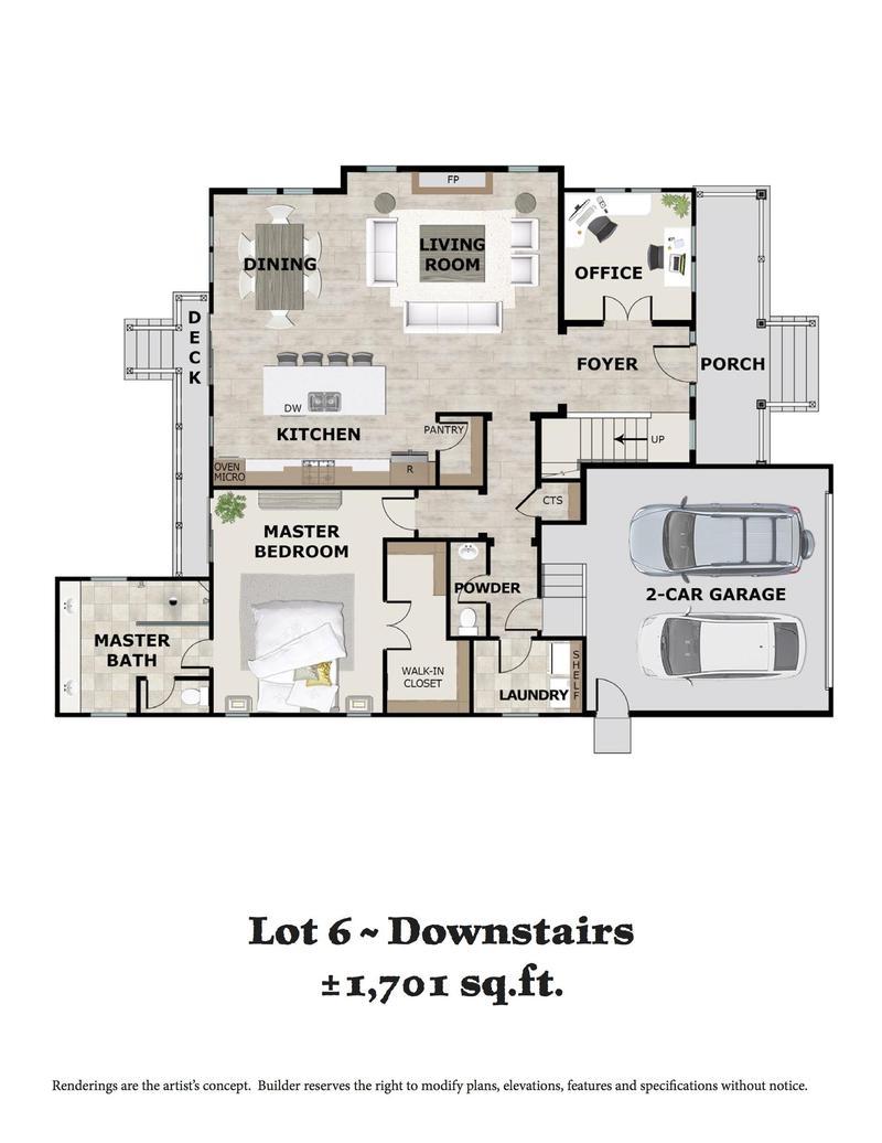 Lot 6 Downstairs Floor Plan