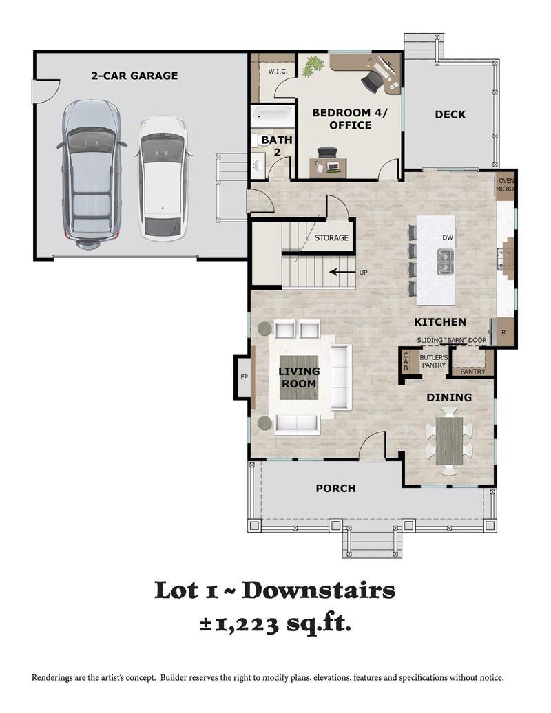 Lot 1 Downstairs Floor Plan