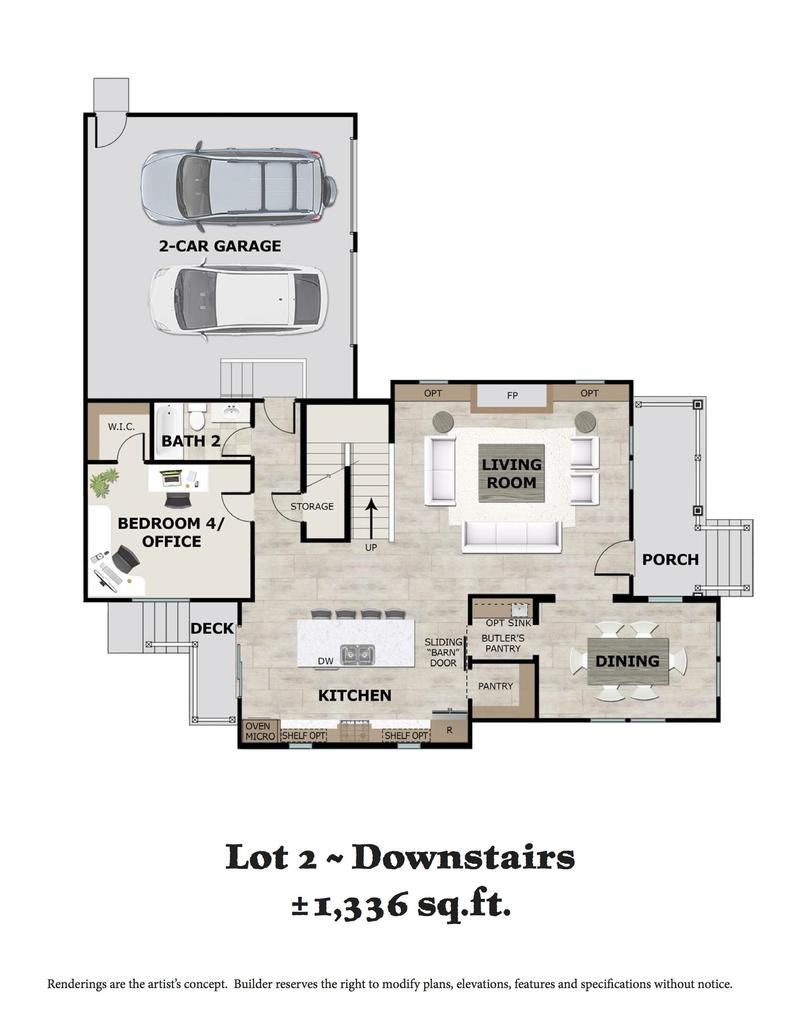 Lot 2 Downstairs