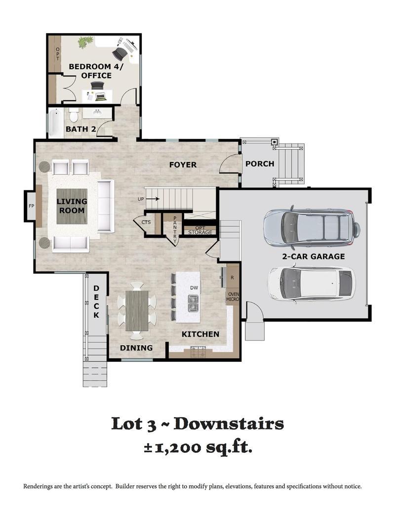 Lot 3 Downstairs Floor Plan