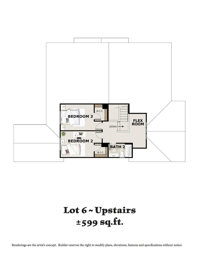 Lot 6 Upstairs Floor Plan