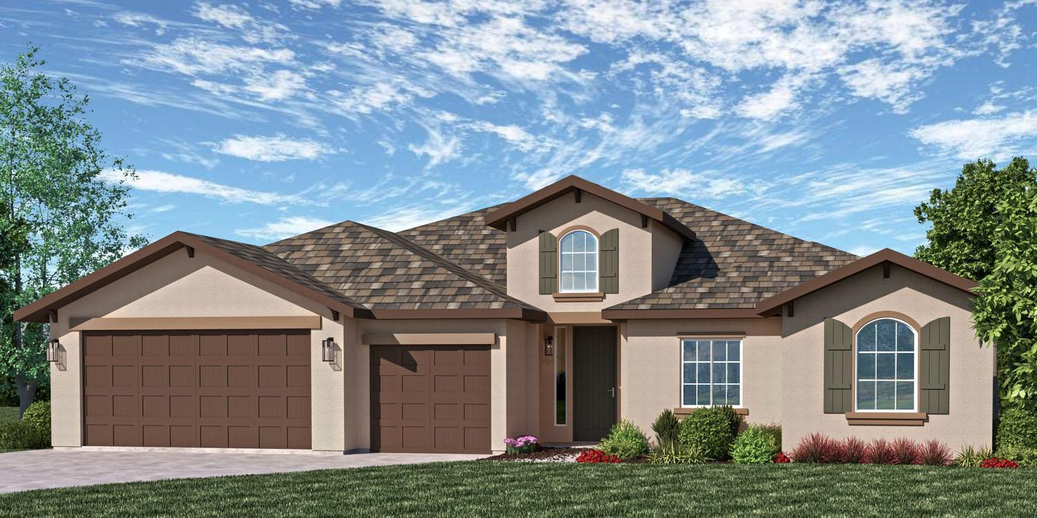 Exterior featured in the Sonoma By S & S Homes in Bakersfield, CA