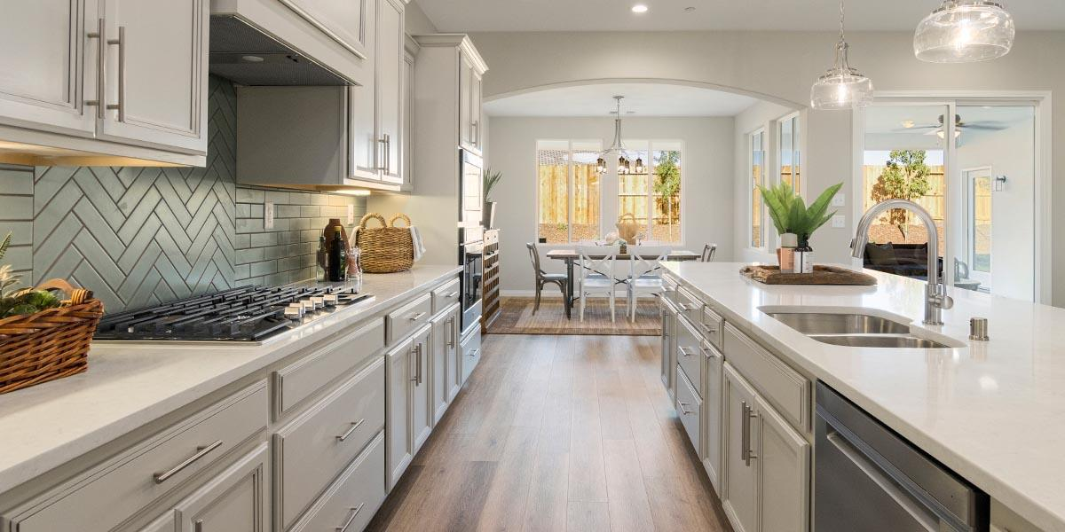 Kitchen featured in the Sonoma By S & S Homes in Bakersfield, CA