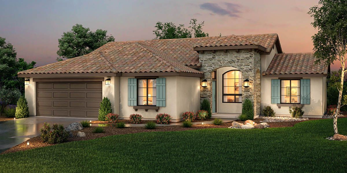 Exterior featured in the Sequoia By S & S Homes in Bakersfield, CA