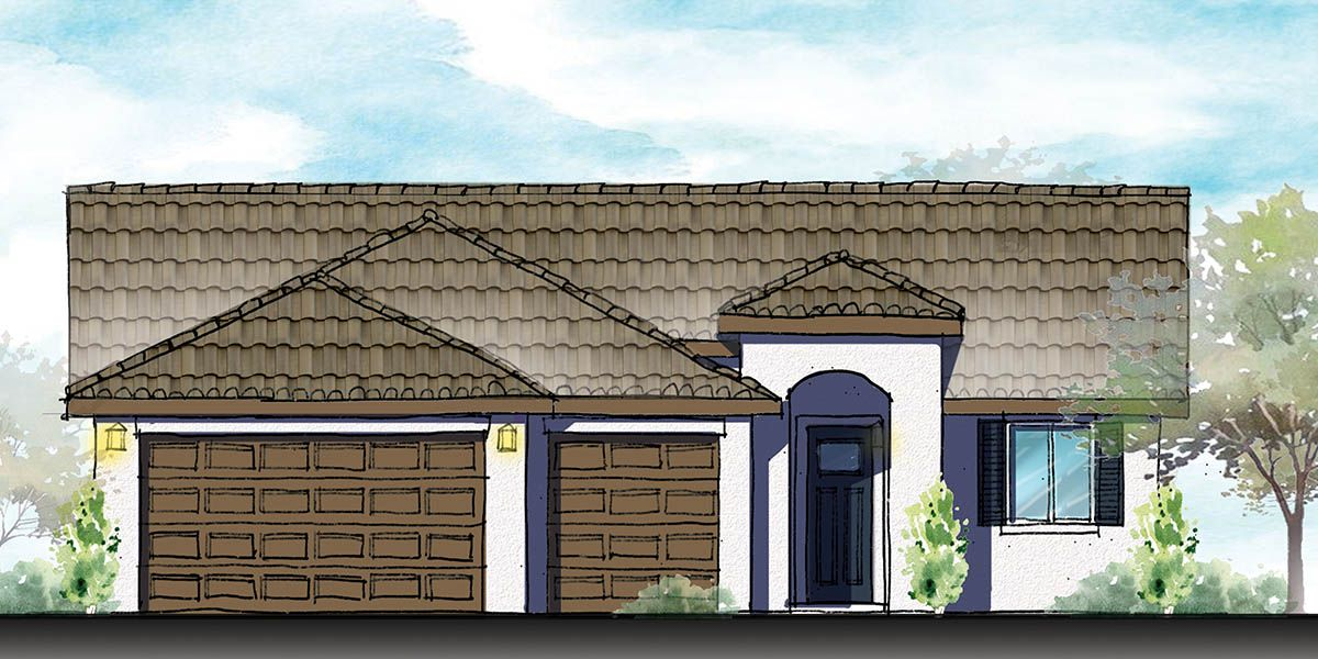 Exterior featured in the Melia By S & S Homes in Bakersfield, CA