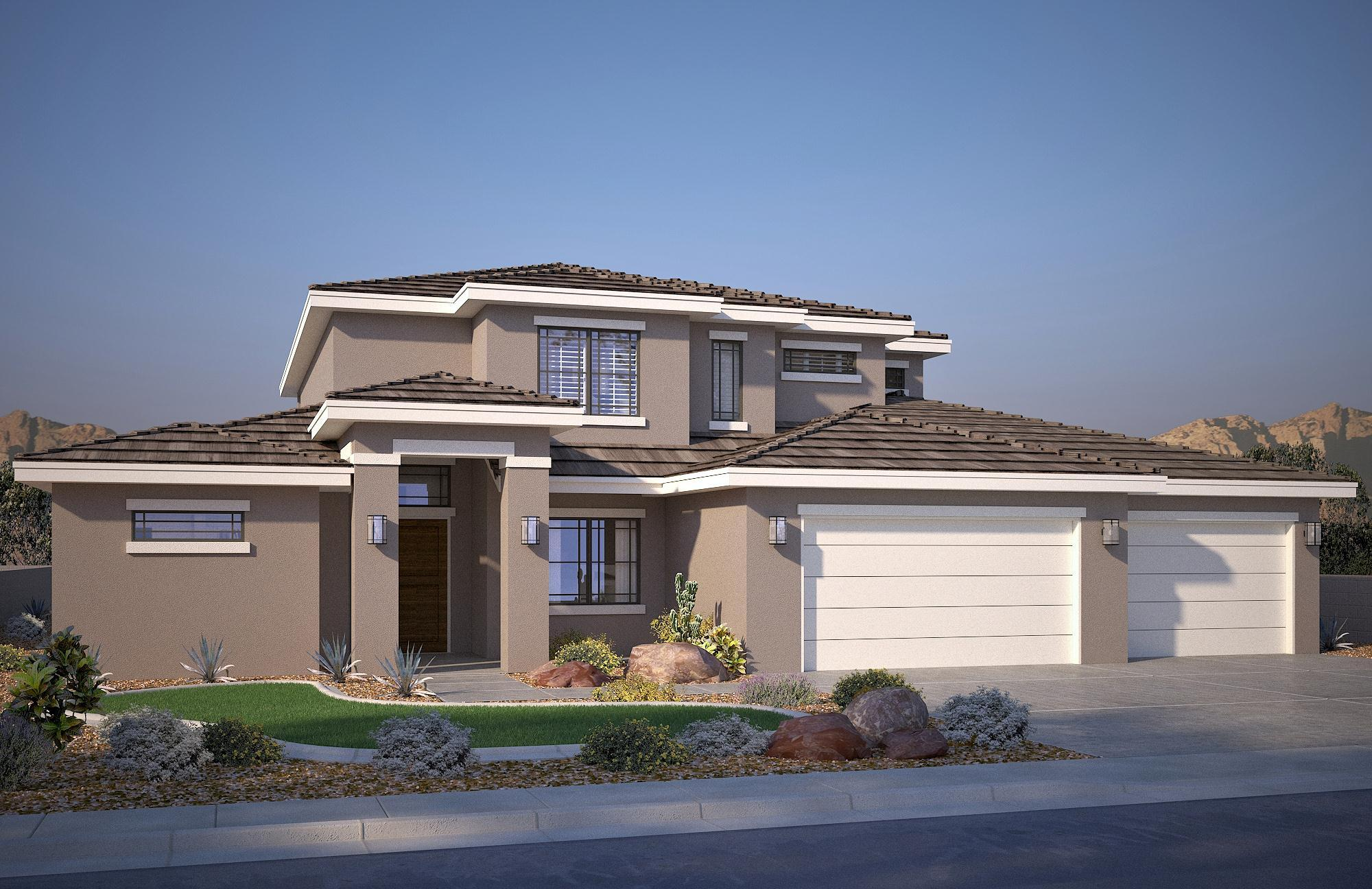 Exterior featured in the Vega A By S & S Homes in St. George, UT