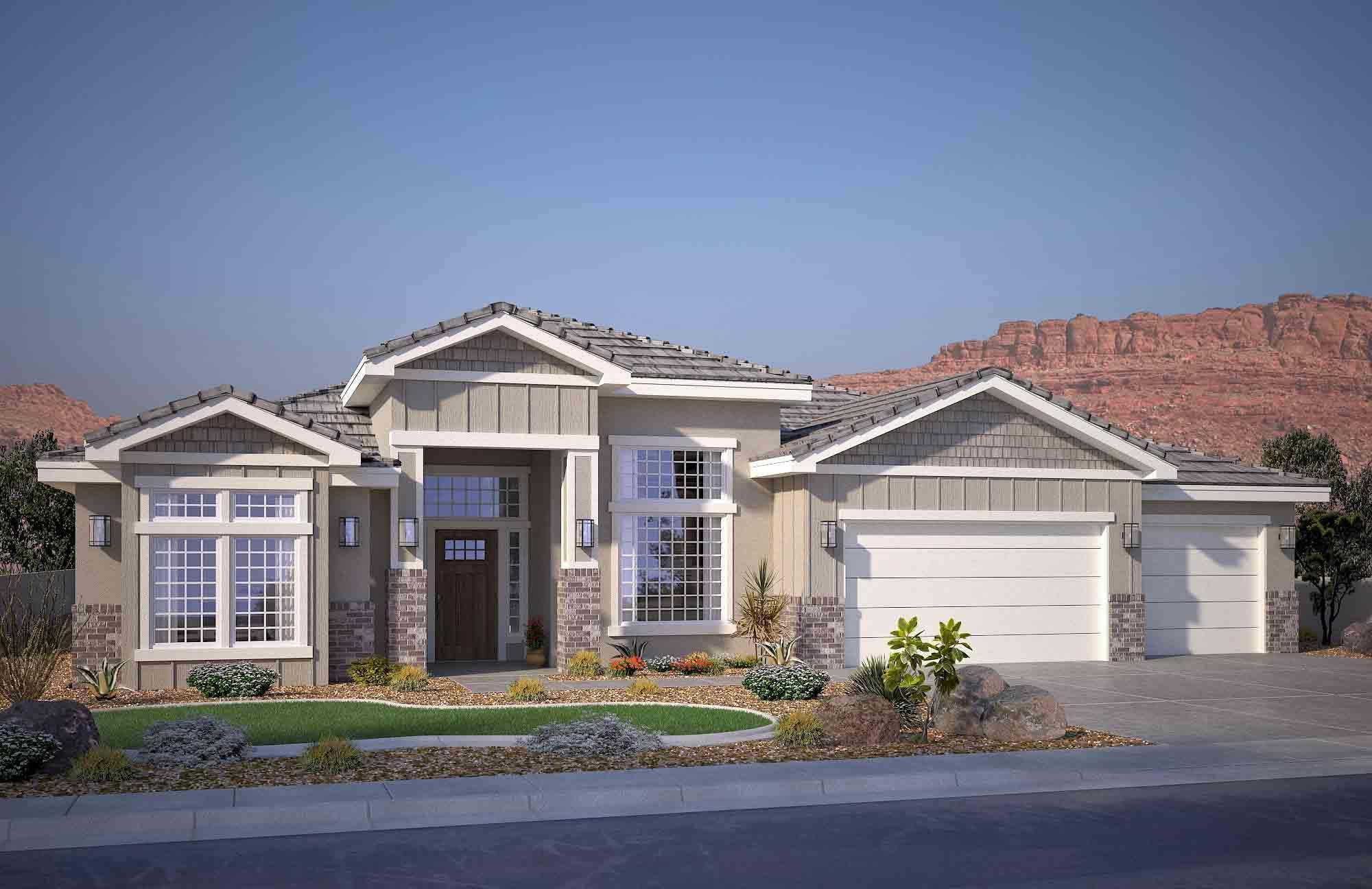 Exterior featured in the Sirius C By S & S Homes in St. George, UT