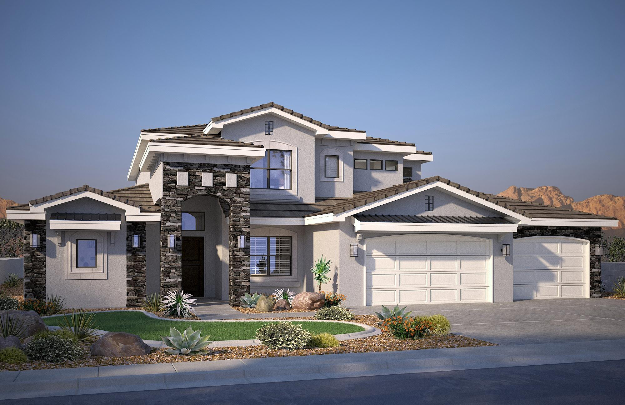 Exterior featured in the Vega B By S & S Homes in St. George, UT