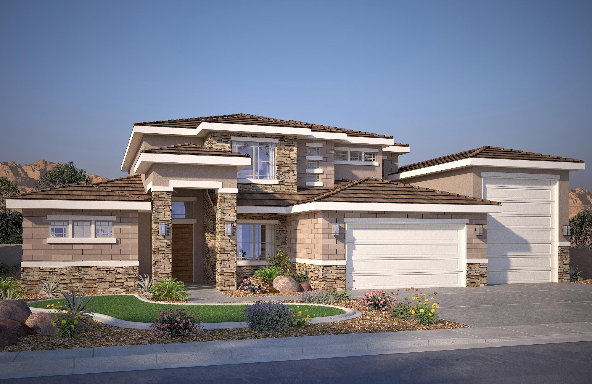 Exterior featured in the Vega C By S & S Homes in St. George, UT