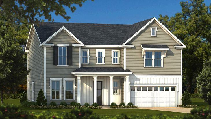 Elliot Elevation B Picturesque:Sabal Homes South Carolina Homebuilder
