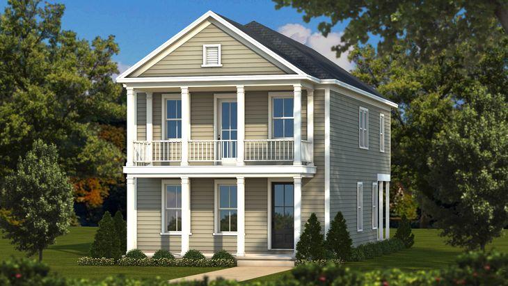 Hayward Elevation B:Sabal Homes South Carolina Homebuilder