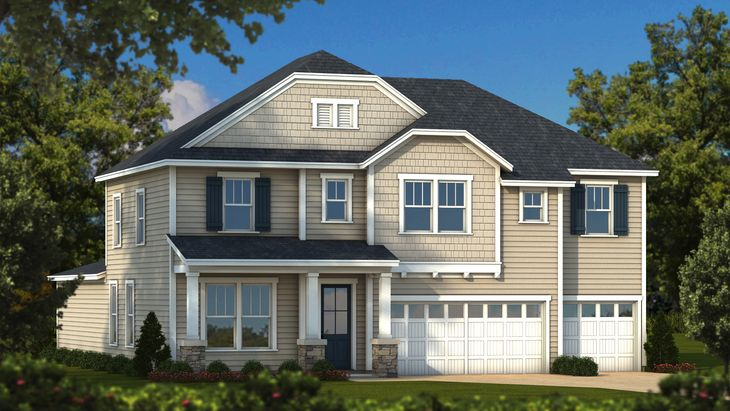 Lancaster Elevation A English Cottage:Sabal Homes South Carolina Homebuilder