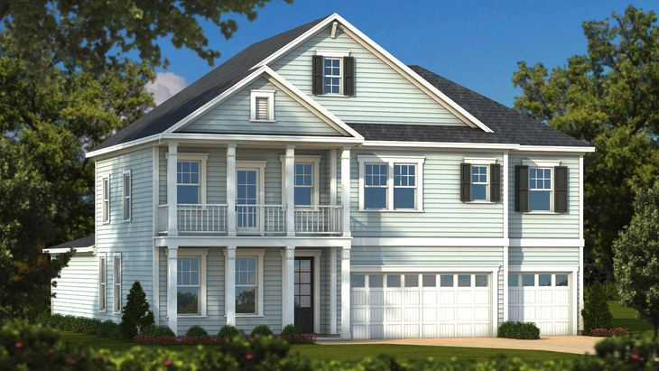 Lancaster Elevation D Traditional:Sabal Homes South Carolina Homebuilder
