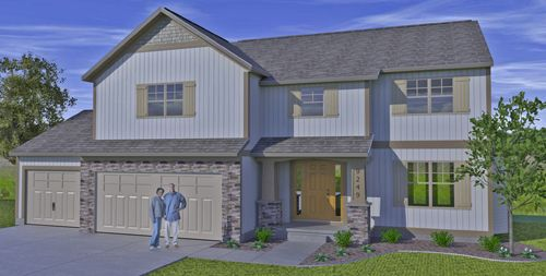 Exterior featured in the Charlotte By Sable Homes in Grand Rapids, MI