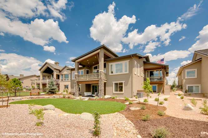 Exterior featured in The Buena Vista II By Saddletree Homes in Colorado Springs, CO
