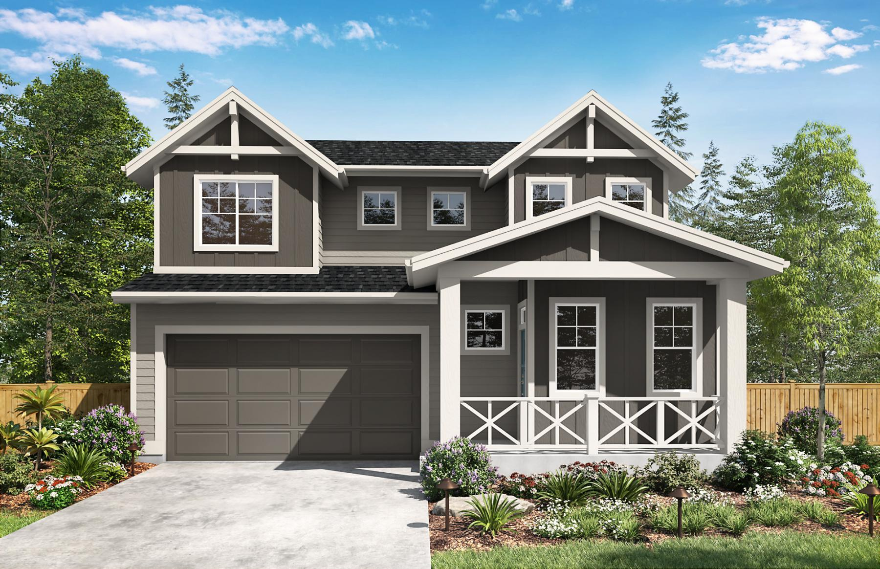 Exterior featured in the Anderson By Sager Family Homes in Tacoma, WA