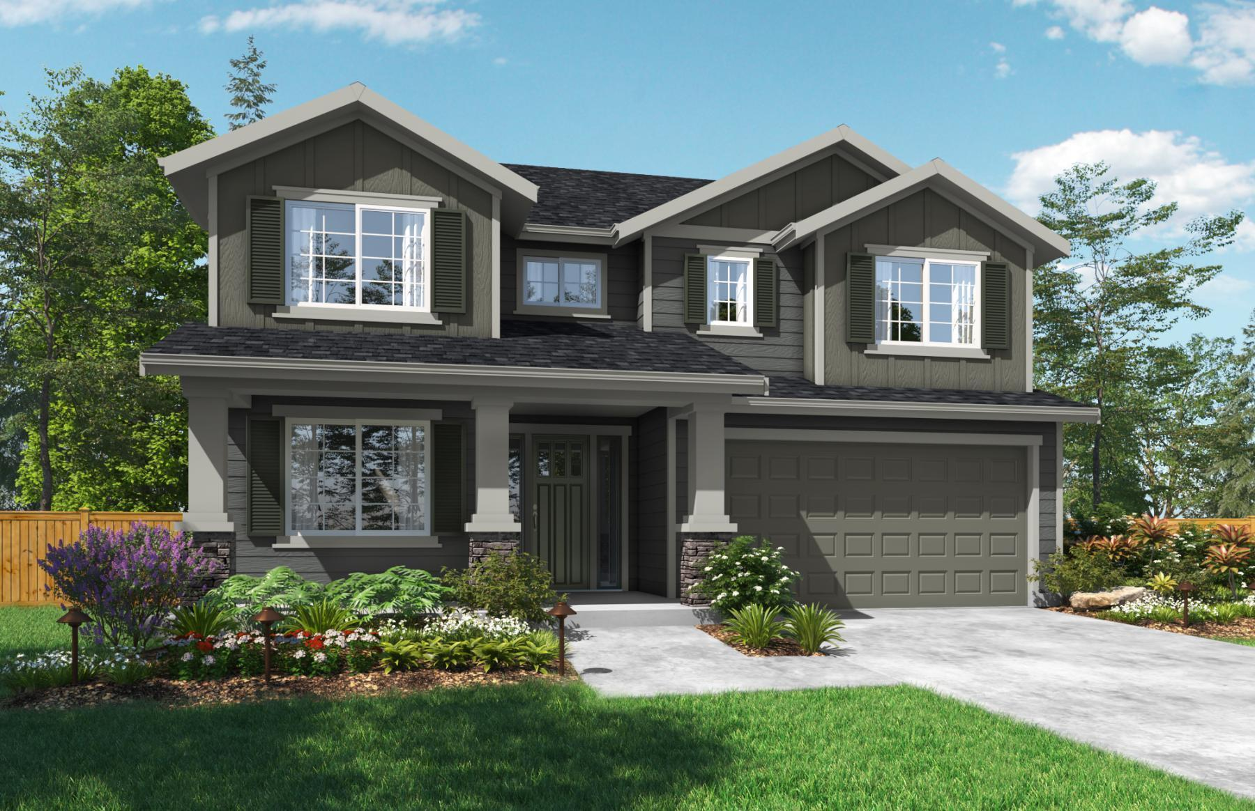 Exterior featured in the Mercer By Sager Family Homes in Tacoma, WA