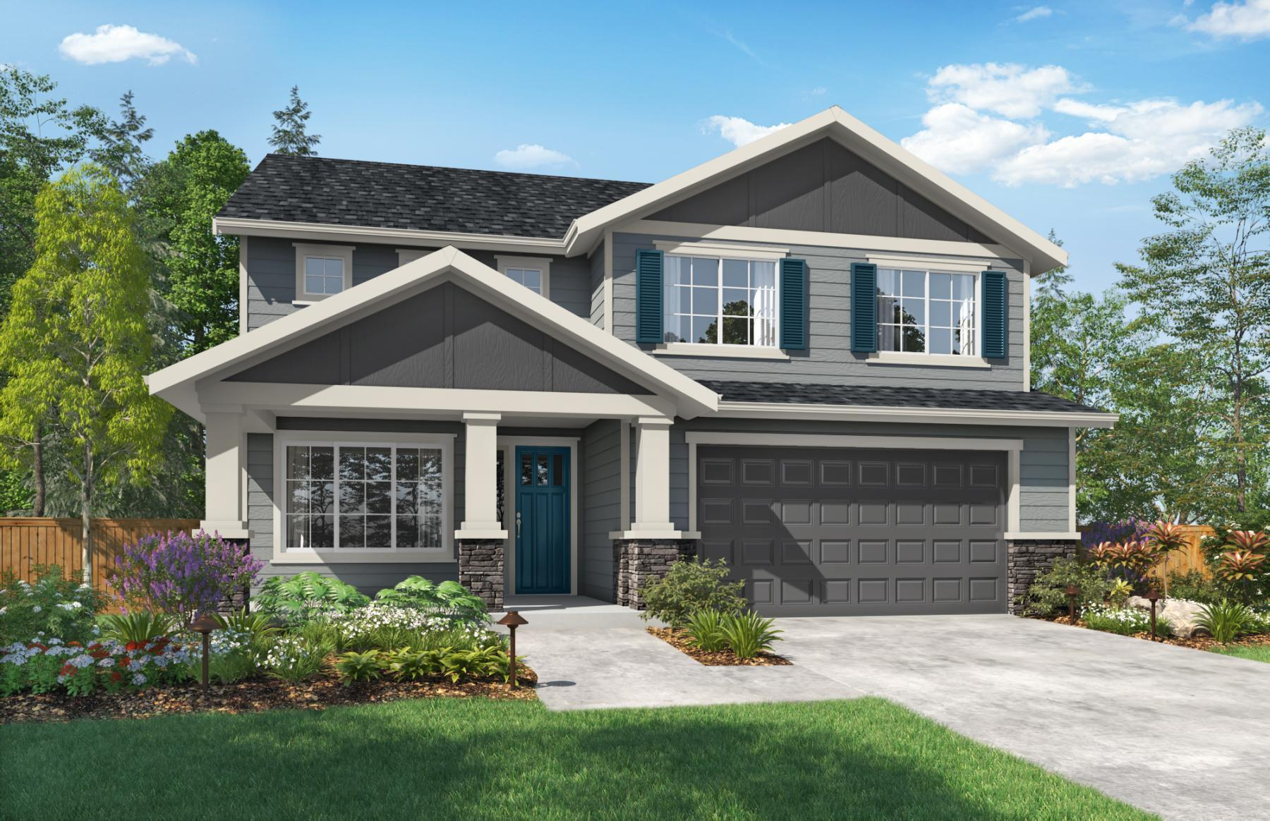 Exterior featured in the San Juan By Sager Family Homes in Tacoma, WA