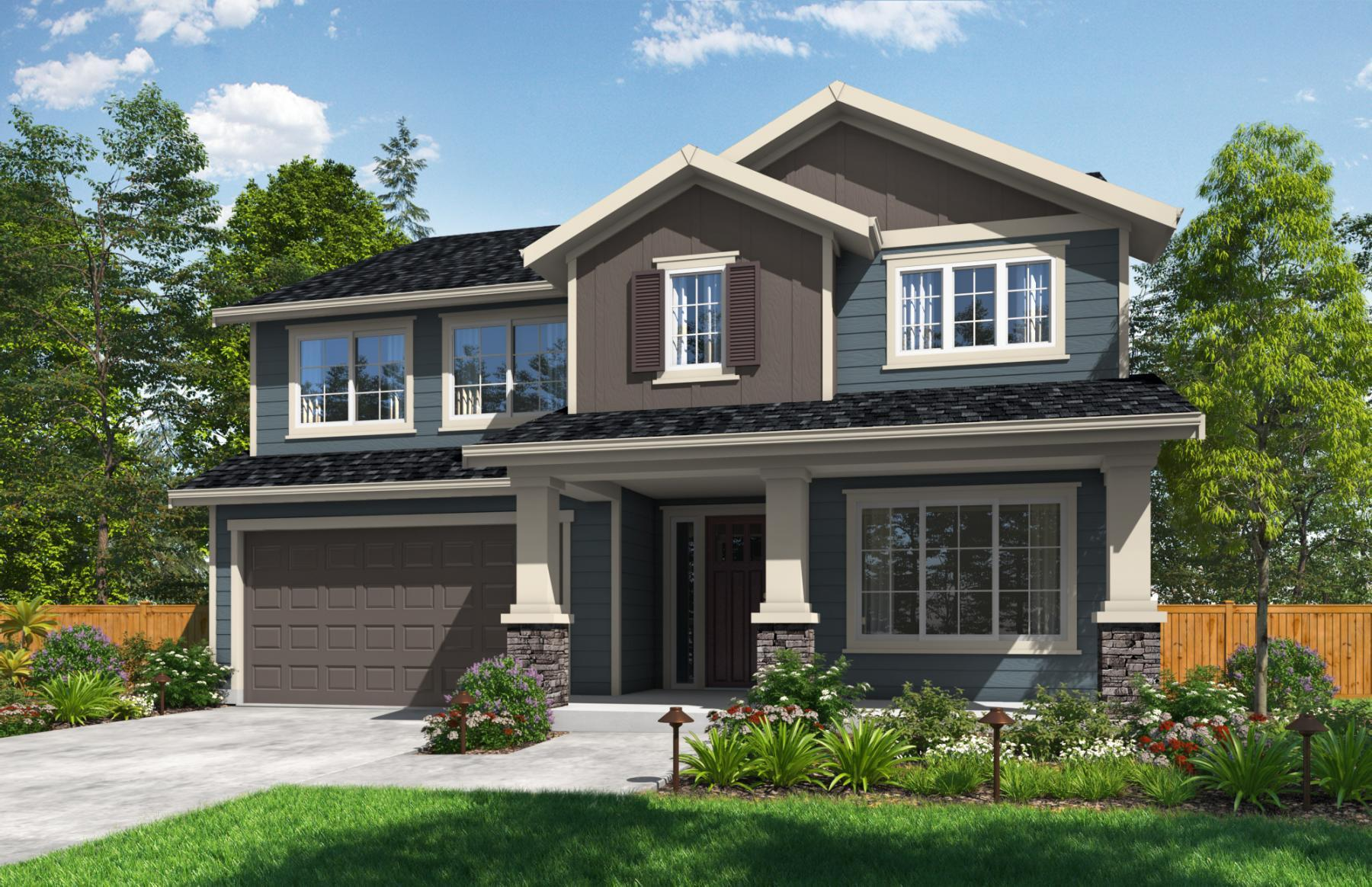 Exterior featured in the Whidbey By Sager Family Homes in Tacoma, WA