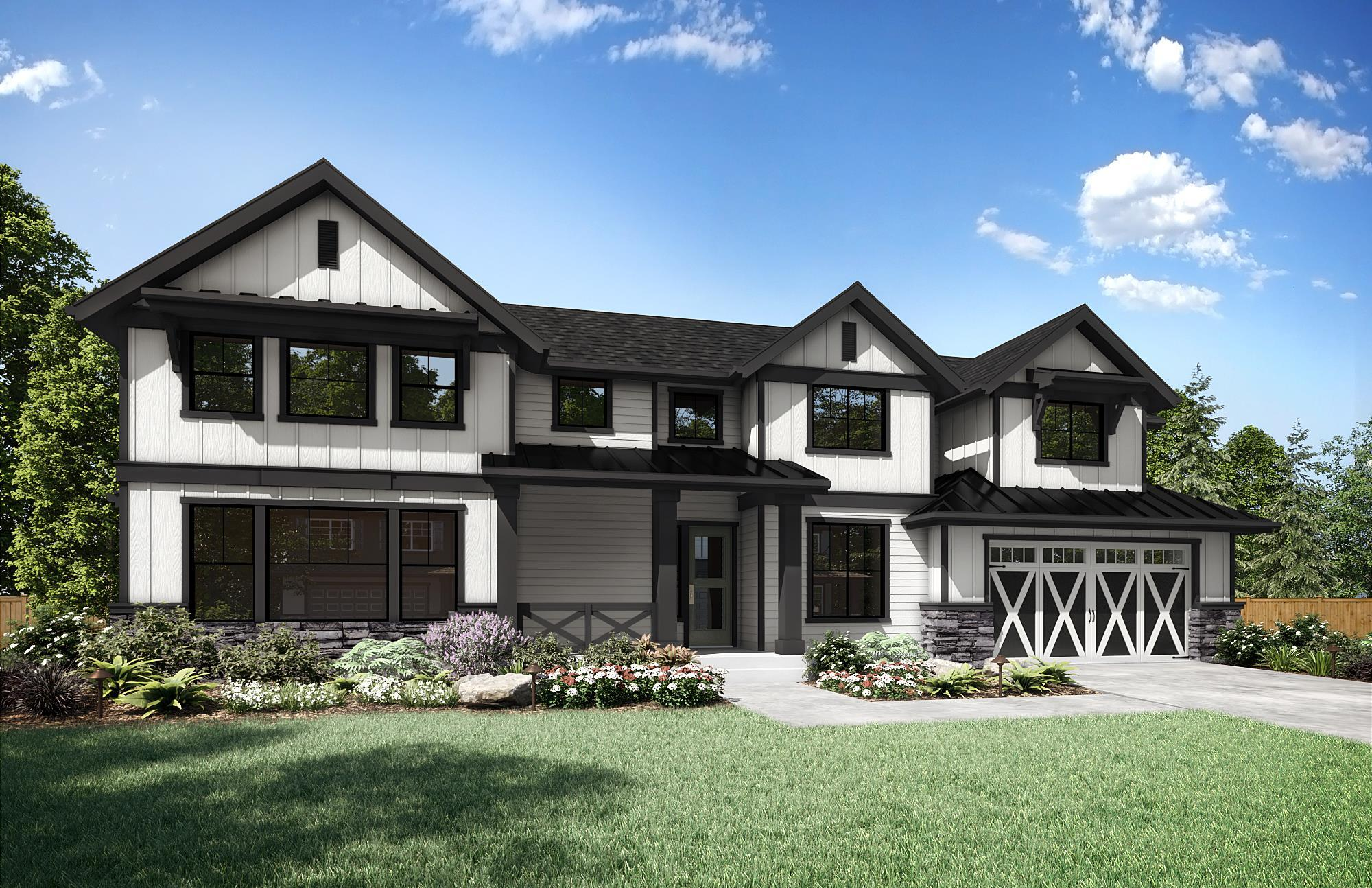 Exterior featured in the Ravenna Front Load Garage Floor Plan By Sager Family Homes in Tacoma, WA