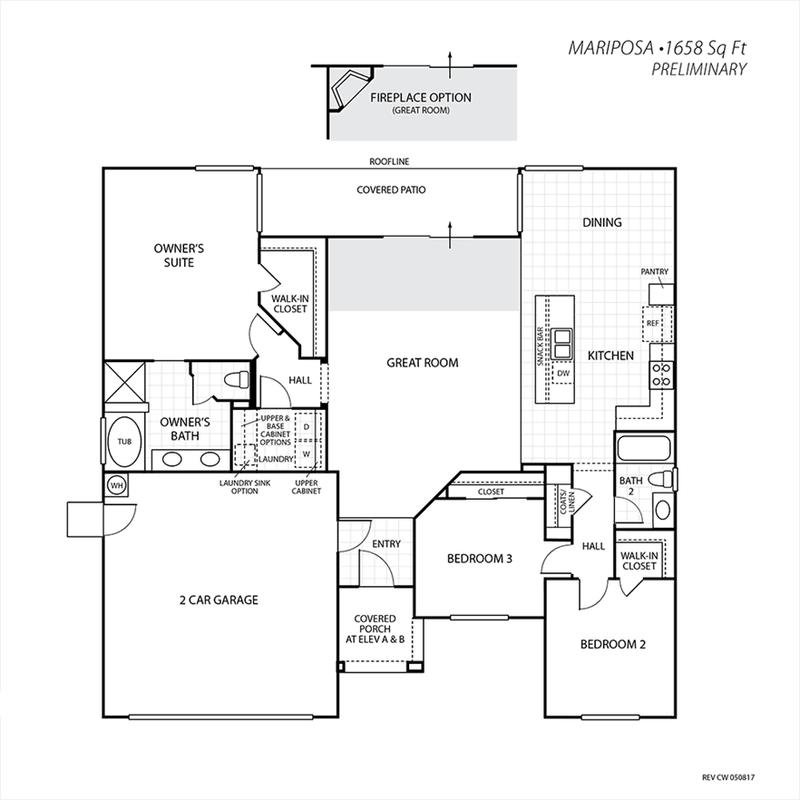 Mariposa Floor Plan