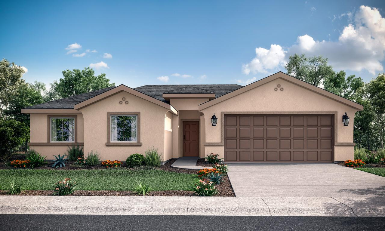 Exterior featured in the Marbella By San Joaquin Valley Homes in Visalia, CA