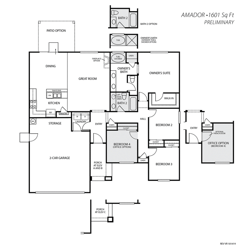 Amador Home Plan by San Joaquin Valley Homes in Vista Robles
