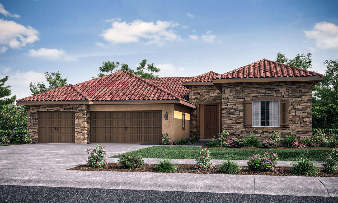 Exterior featured in the Marsala By San Joaquin Valley Homes in Visalia, CA