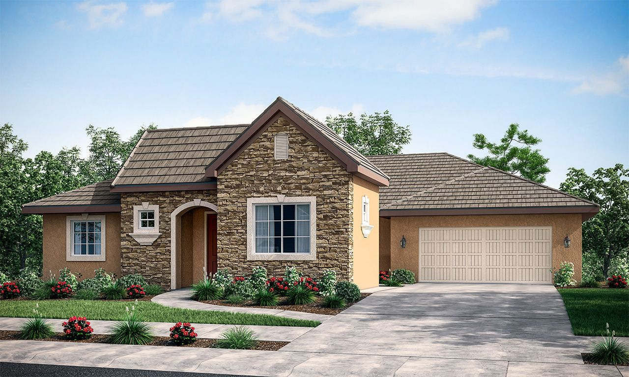 Exterior featured in the Carrera By San Joaquin Valley Homes in Visalia, CA