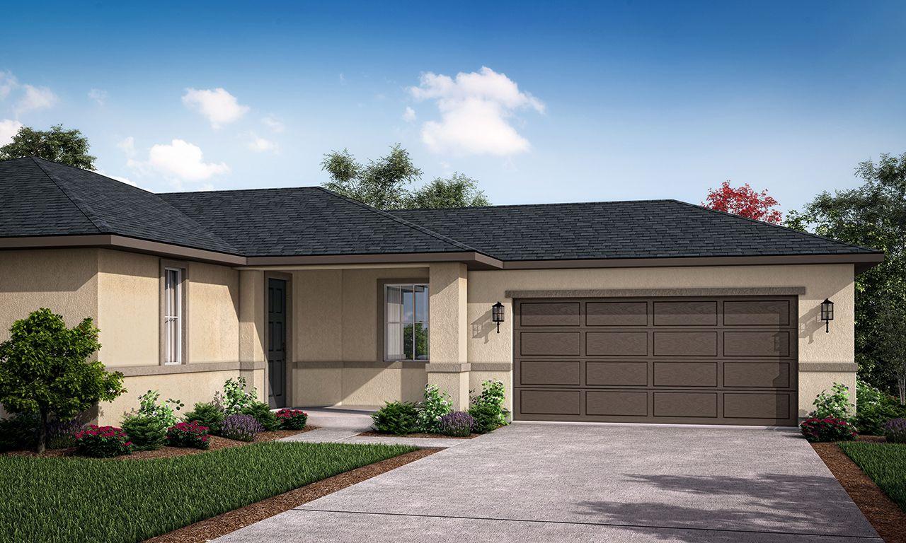 Exterior featured in the Bridgeport II By San Joaquin Valley Homes in Visalia, CA