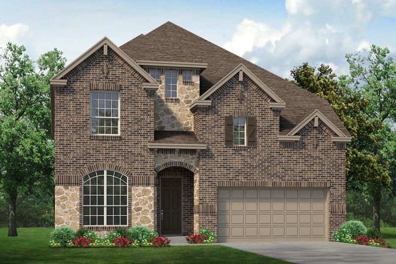 Exterior featured in the Monte Carlo By Sandlin Homes  in Fort Worth, TX