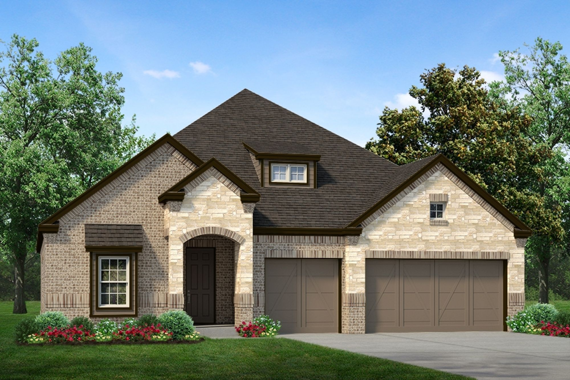 Exterior featured in The Cedarwood II By Sandlin Homes  in Fort Worth, TX