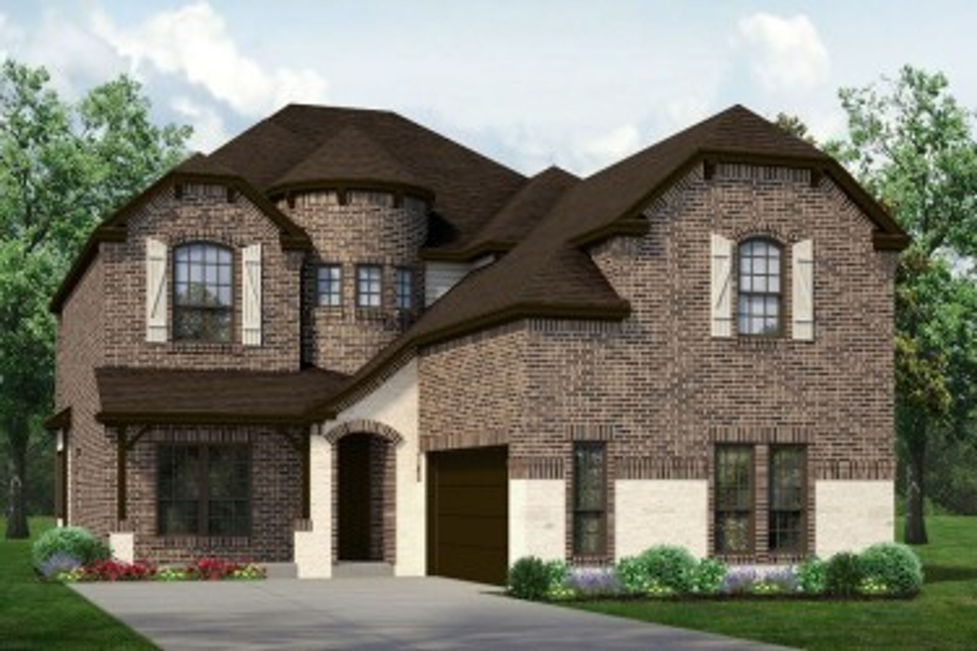 Exterior featured in The Chessel JS By Sandlin Homes  in Fort Worth, TX