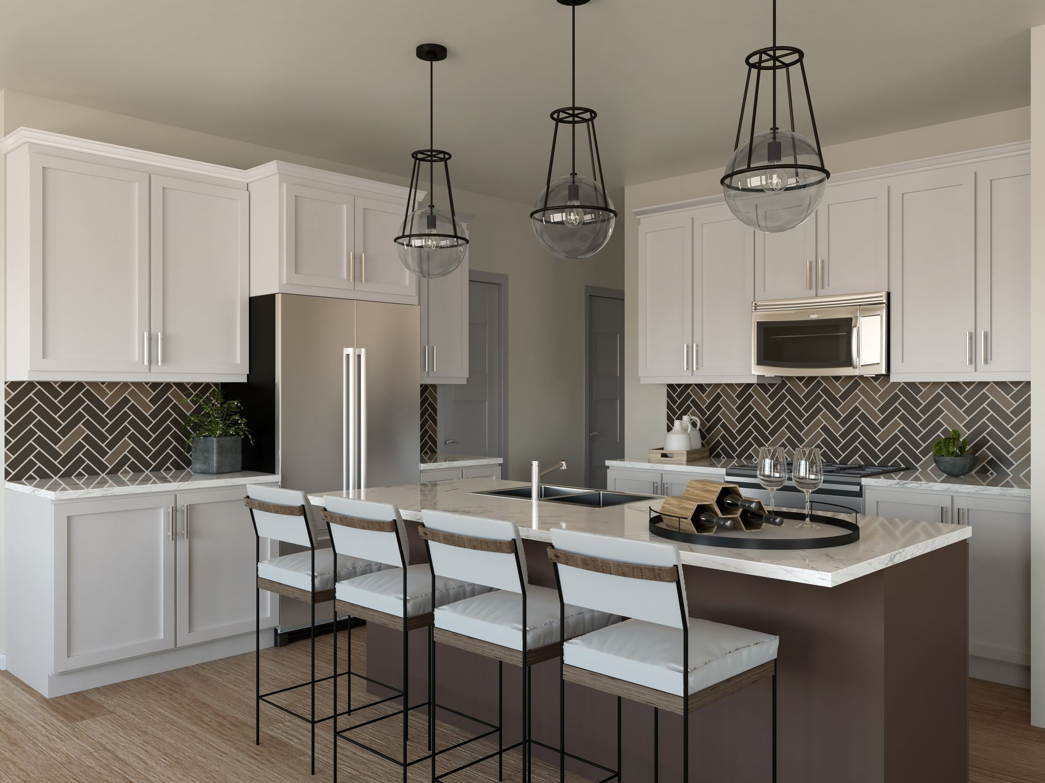 Kitchen featured in the Residence 3 By Santa Ynez Valley Construction in Reno, NV