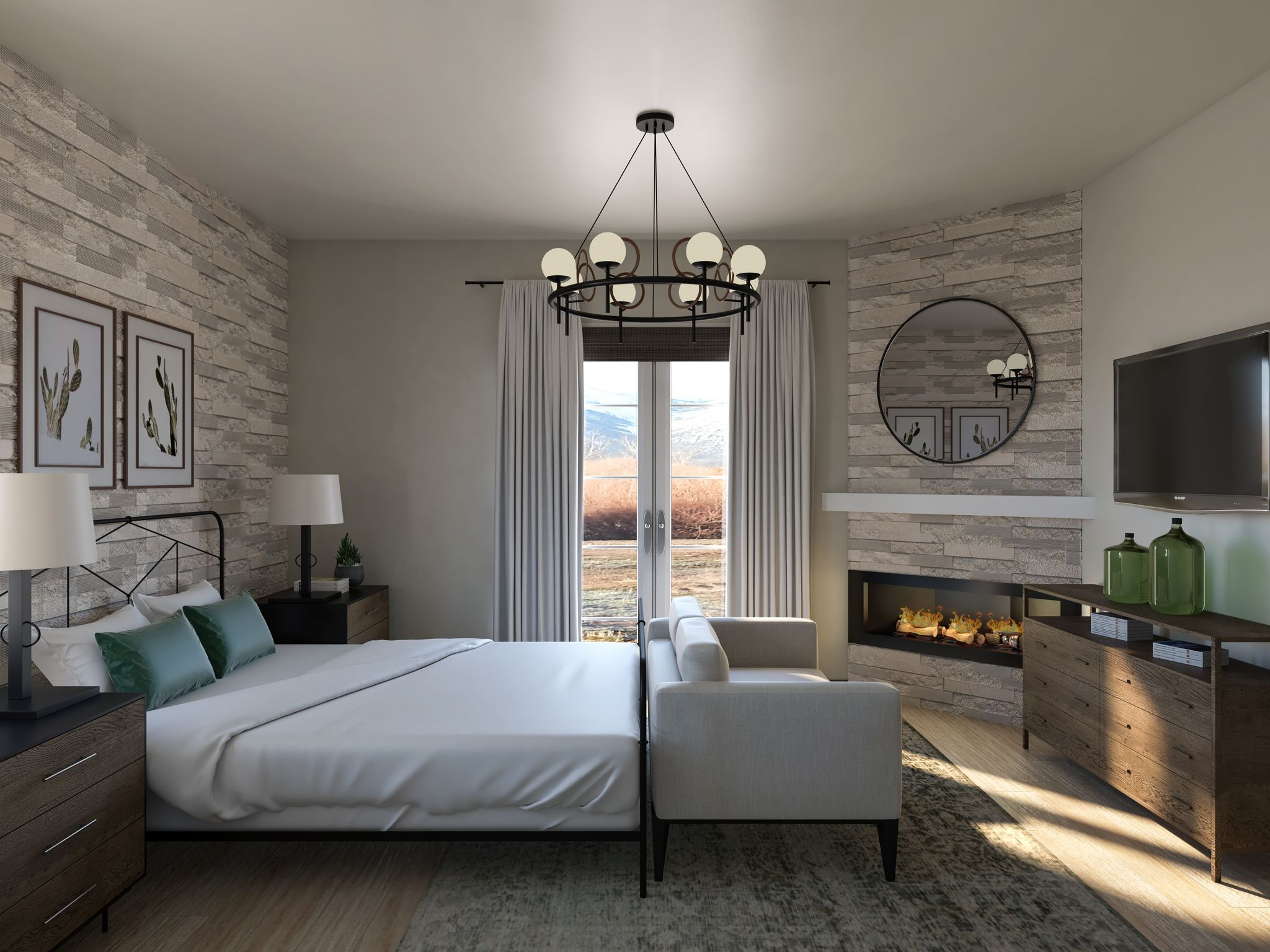 Bedroom featured in the Residence 3 By Santa Ynez Valley Construction in Reno, NV