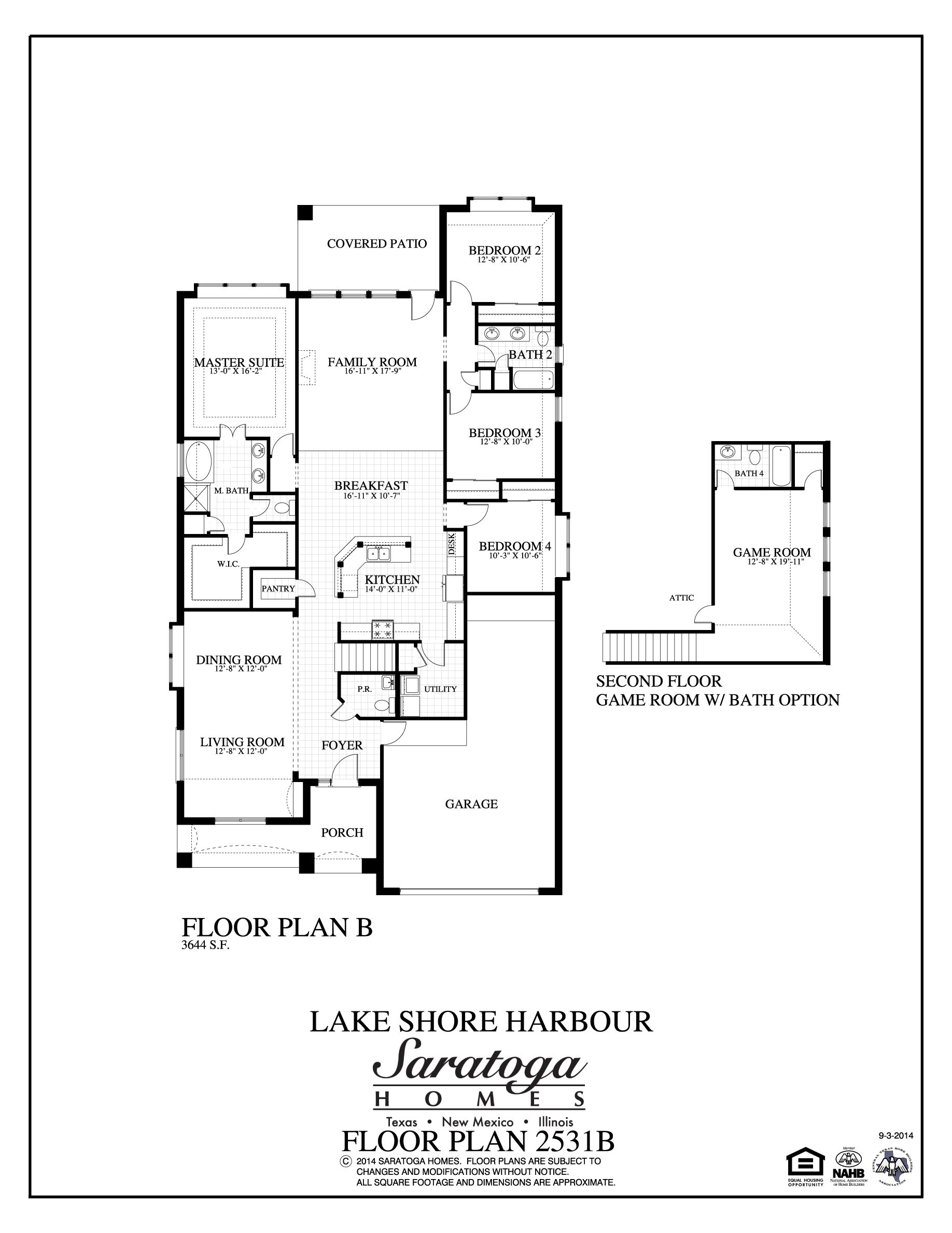 Lovely Saratoga Homes Floor Plans #5: 3734 Varna Court (2531), Sienna Plantation, Texas 77459 - 2531 Plan At Lake  Shore Harbour By Saratoga Homes