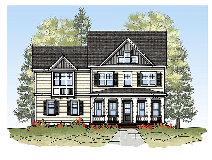 Exterior featured in the Model K By Sasser Construction LC  in Norfolk-Newport News, VA